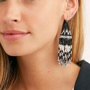 Free People Beaded Boho Dangle Earrings NWT
